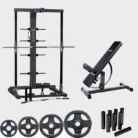 Ironmaster gympaket med träningbänk och smithmaskin