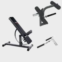 Ironmaster gympaket med träningsbänk och tillbehör
